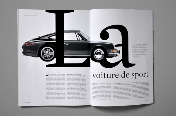 Bilan LUXE magazine by Nicolas Zentner, via Behance