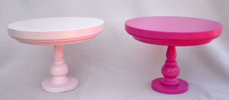 Mini wooden hot pink cake stand with 5 diameter by TheSugarStand, $13.00
