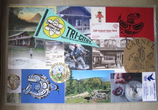 Vacation memories turned placemat