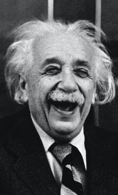 Albert Einstein in good spirits • photo: Ruth Orkin / Hulton Archive on Getty Images