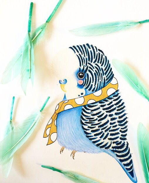 Little illeke bird #illustration #bird #kanariepiet #handdrawn #handgetekend www.illeke.nl