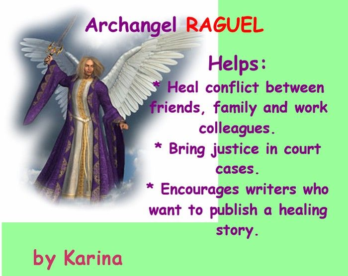 Archangel Raguel: What He Helps With: Peace, Friendship, Healing Books