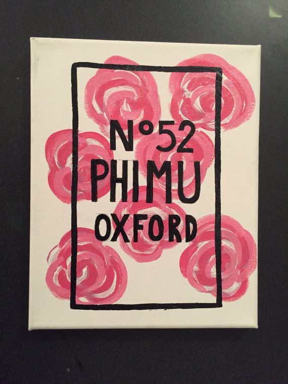 chanel inspired sorority canvas painting can be customized