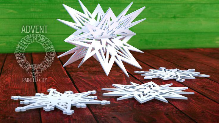 Hópihe kollekció (lézervágott merített papír karácsonyfa díszek)