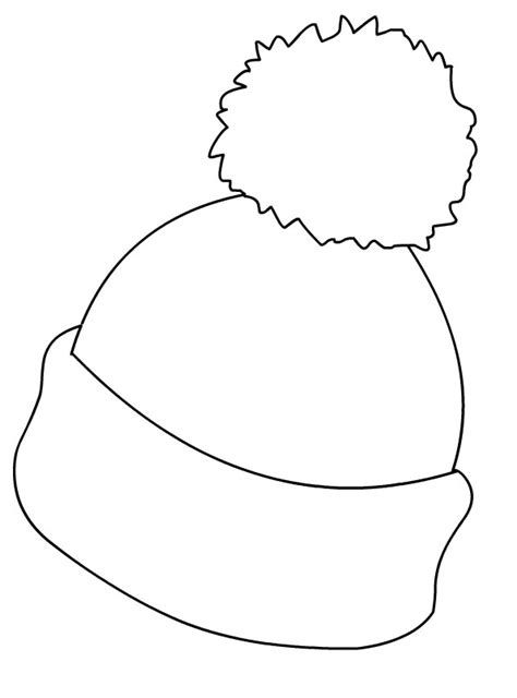Hat Coloring Pages coloring Winter crafts for kids