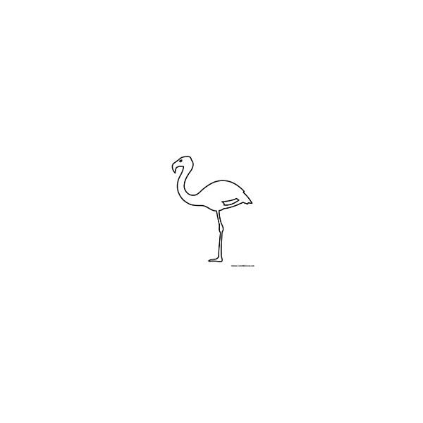 flamingo outline | Party Planning | Pinterest