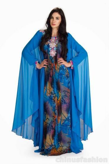 Nora Blue Chiffon Gown Style #Kaftan