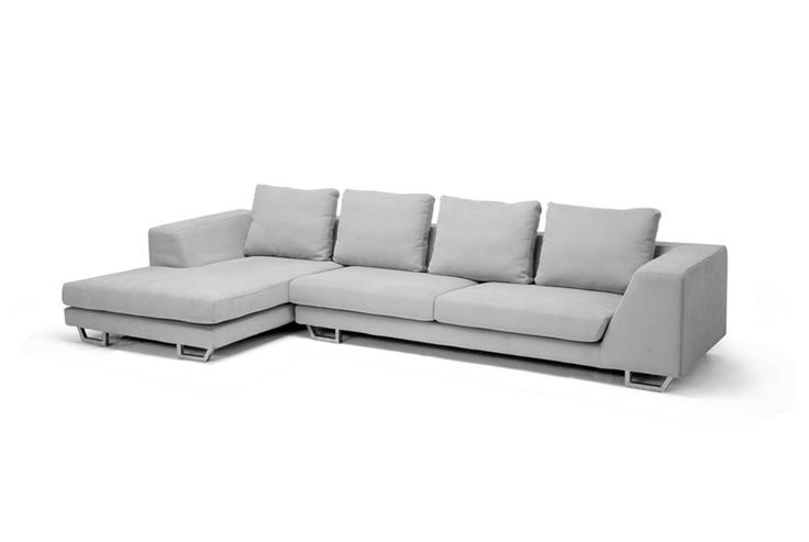 Abby Gray Twill Fabric Large Sectional Sofa | Chicago Furniture
