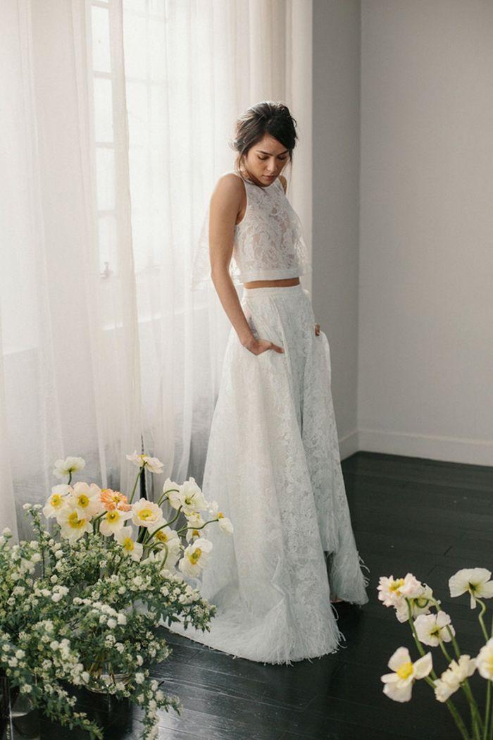 ▷ 1001 + ideas encantadoras de vestidos de novia con encaje