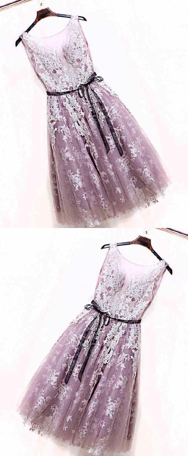Evening dresses pink lace evening dresses cute prom dresses short