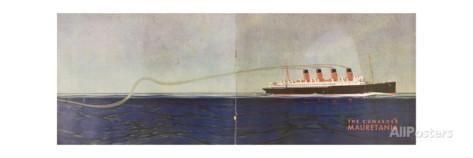 Cunard Line Promotional Brochure for 'Mauretania' C.1930 Giclee Print at AllPosters.com
