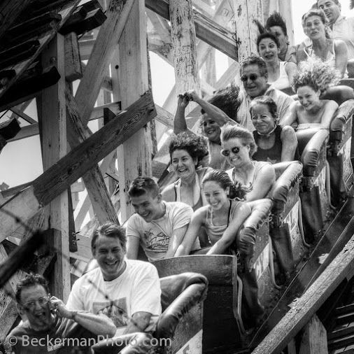 June 25, 2005, You Caption It - better than my own bland title: Cyclone, Coney Island.  Dave Beckerman
