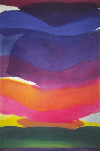Gretchen Albrecht, Banded Orange, 1973.