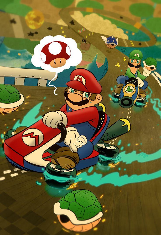Mario Kart 8 Devin Kraft Mario Luigi Yoshi Dibujos