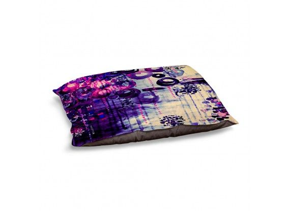Ebi Emporium Dog and Pet Beds Artistic Decorative Designer Unique | Julia Di Sano's Atomic Purple Dreams, Fine Art Colorful Warm and Cozy #dogbed #petbed #pets #giftfordog #decor #JuliaDiSano #DianocheDesigns #colorful #purple #violet #aubergine #plum #pink #swirls #sky #acrylic #painting #girly #feminine #chic #clouds #paradise #dreaming #brushstrokes #abstract #art #fineart #painting #whimsical #decorative #modern #doglove #giftforpet