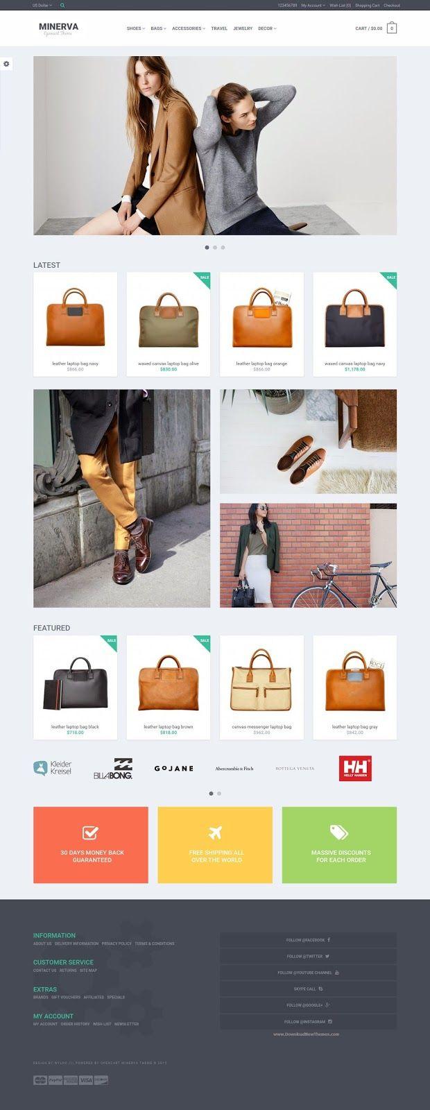 Minerva Responsive OpenCart Theme 2015 #fashion #store