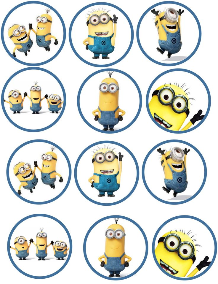 Minion Edible Image Cupcake Toppers by ShoreCakeSupply on Etsy