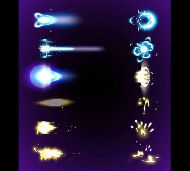 2D ANIMATION FX gunshots & energyshots