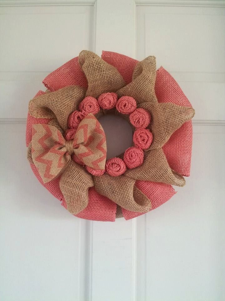 Burlap Wreath Valentine Wreath Valentine Burlap by SunDropBoutique, $27.00