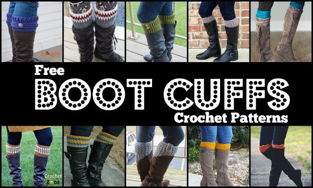 10 Free Boot Cuffs Crochet Patterns
