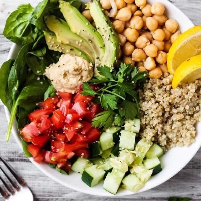 Greek Quinoa Buddha Bowl(V,GF,DF)