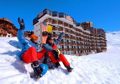 Val Thorens, la plus haute station de #ski d'Europe, dans le domaine skiable des 3 Vallées.