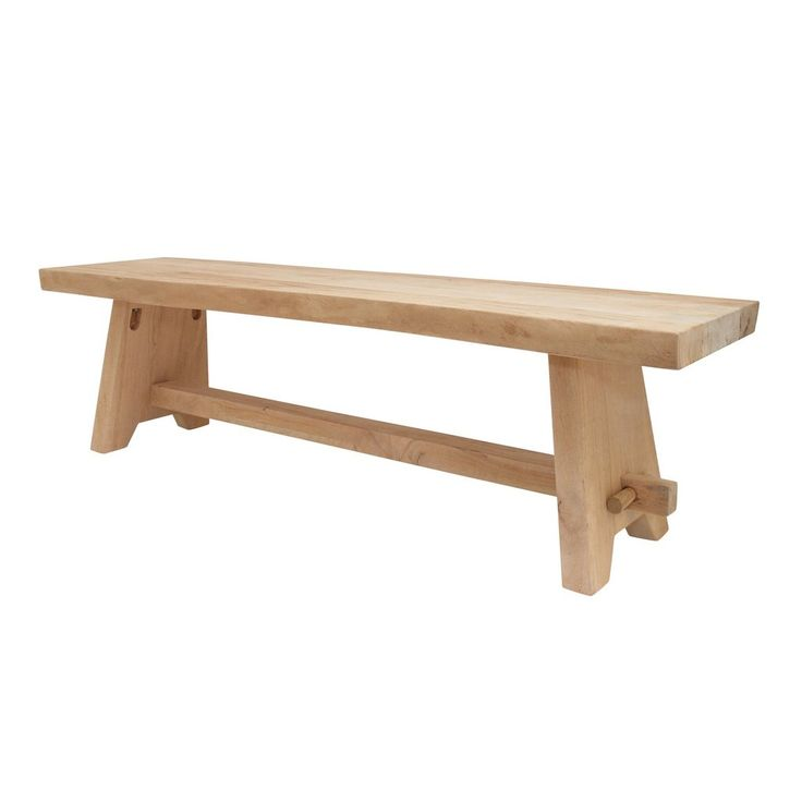 A classic style bench made from mahogany and painted in white. Beautiful in the garden or the house. Designed by HK Living