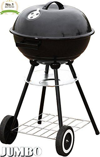 Unique Imports 1 Jumbo Original Kettle 22 Charcoal Grill Outdoor Portable Bbq Grill Backyard Cooking Stainless Steel For Standing Grilling Steaks Burgers Charcoal Grill Portable Bbq Portable Bbq Grill