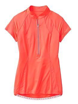 Draw as ladies short sleeve raglan polo.  Make 1/4 zip placket and self collar (not mandarin).