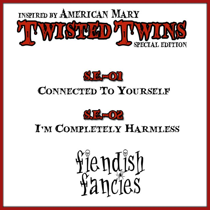 Coming Soon from Fiendish Fancies: Twisted Twins special edition Duo (October 2015)