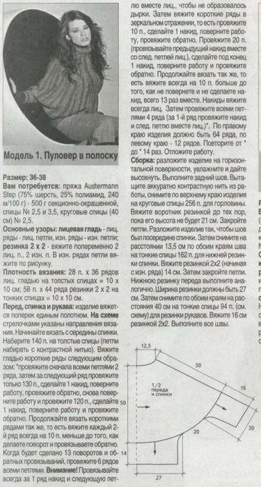 """""""Летучая мышь"""" спицами - Вязание - Страна Мам"""
