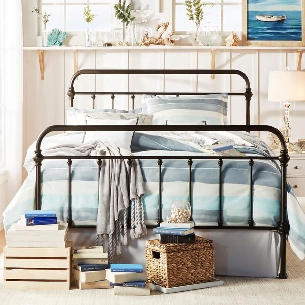 INSPIRE Q Giselle Antique Dark Bronze Graceful Lines Victorian Iron Metal Bed - Overstock™ Shopping - Great Deals on INSPIRE Q Beds