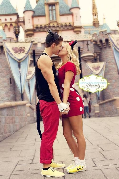 This is too cute. This will be my boyfriend and I when we go visit Disneyland. Hopefully soon!!