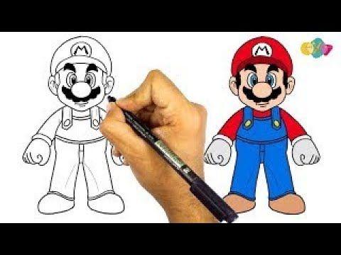 رسم سوبر ماريو سهل جدا رسم سهل كيف ترسم سوبر ماريو كامل تعليم الرسم Easy Drawings Youtube Vault Boy Fictional Characters Character