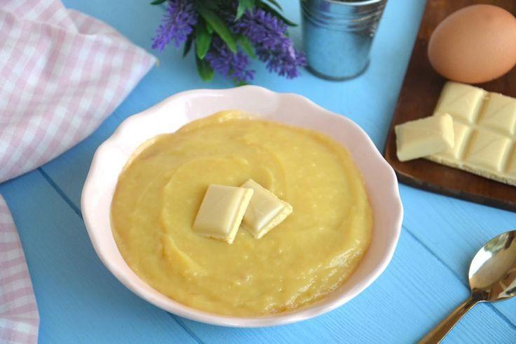 Crema pasticcera al cioccolato bianco, scopri la ricetta: http://www.misya.info/ricetta/crema-pasticcera-al-cioccolato-bianco.htm