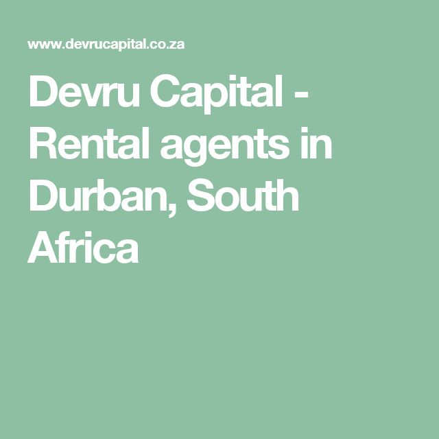 Devru Capital - Rental agents in Durban, South Africa