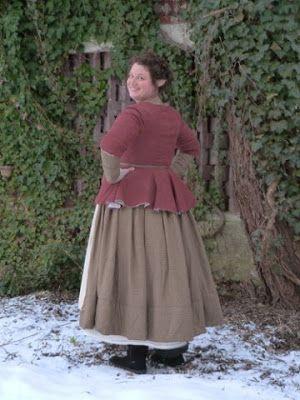 Winter clad hobbit woman.