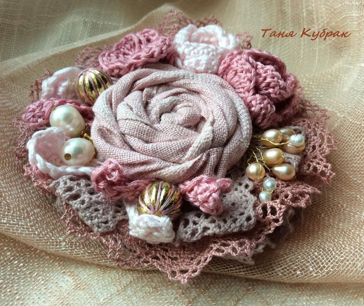 Brooch Rose garden by squerrelbench on Etsy