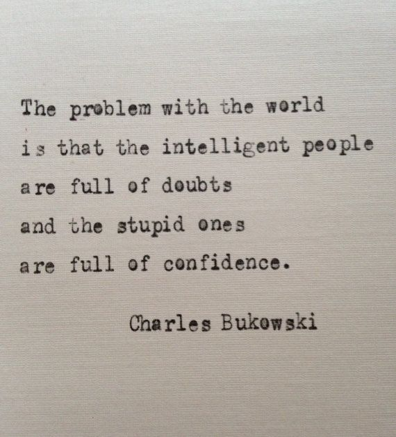 Charles Bukowski quote typed on typewriter – unique gift