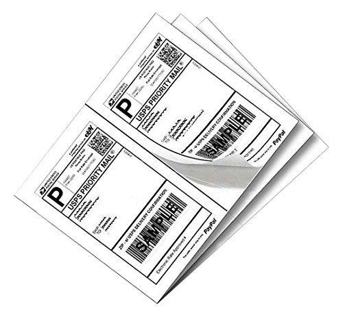1000 Half Sheet Laser/Ink Jet Shipping Labels USPS UPS FedEx Address Labels