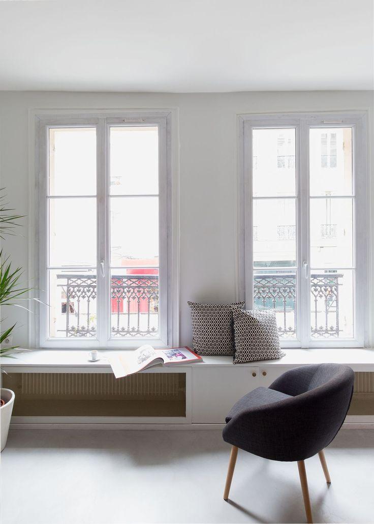 Salon  Appartement parisien de 50m2- GCG Architectes