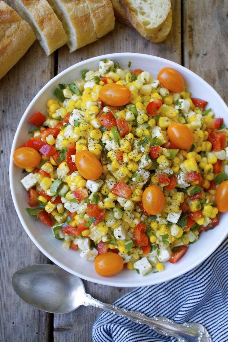Summer Gratitude Corn & Feta Salad | In Pursuit of More. Summer salad ...