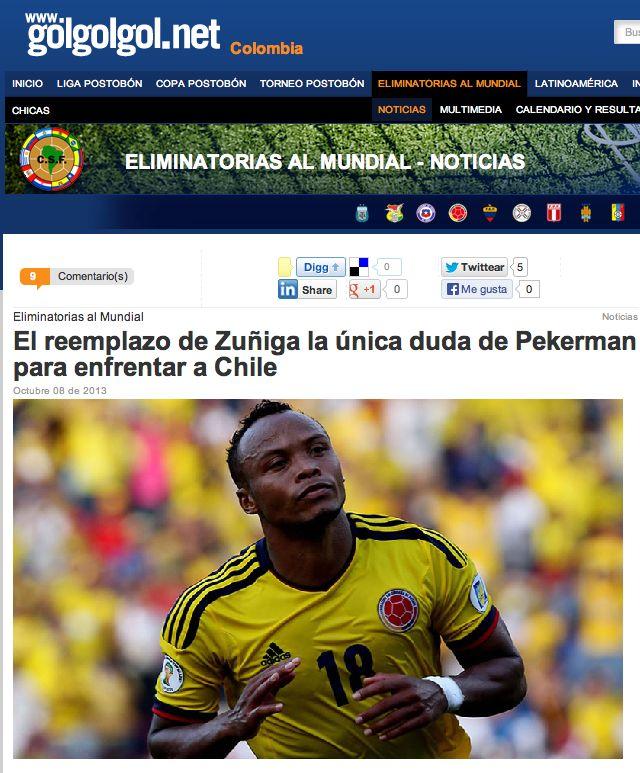 El reemplazo de Camilo Zúñiga es hasta hoy la única duda en la formación titular de Colombia. No se sabe quién será su reemplazo pero se rumora que tal vez sea Stefan Medina.