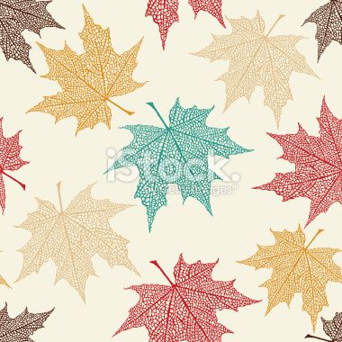maple leaf printable pattern | Vector Seamless Pattern of Colored Maple Leaves Royalty Free Stock ...