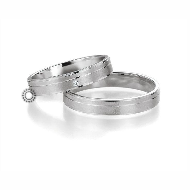 Βέρες γάμου BENZ 023 & 024 - Μοντέρνες λευκόχρυσες γαμήλιες βέρες Benz σε ιδιαίτερο ματ φινίρισμα | Βέρες ΤΣΑΛΔΑΡΗΣ στο Χαλάνδρι #βέρες #βερες #γάμου
