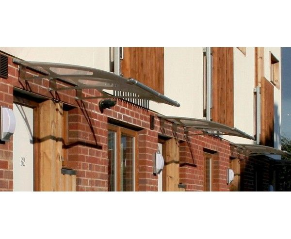 Door Canopy 1.5m Stainless Steel Clear Acrylic Over Door Canopy