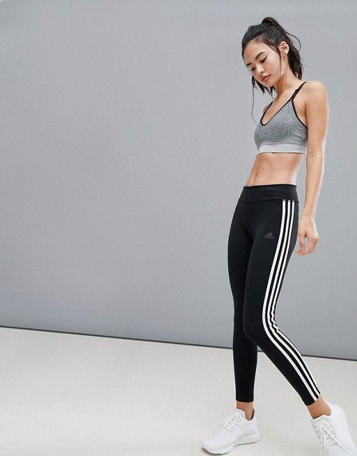 faac1586e81 adidas Training Three Stripe Leggings In Black in 2019