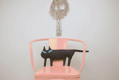 Untitled, via Flickr.: Cat Shape, Cat Fashion, Flickr, Chairs, Black Cats, Mueller Cat, Fashion Dolls, Photo, Cat Pick