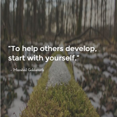 Invest on yourself first to help others even more.