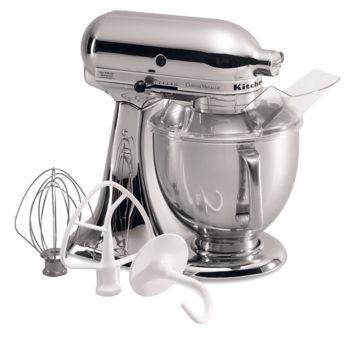 Learn about features and specifications for the Custom Metallic® Series 5 Quart Tilt-Head Stand Mixer (KSM152PSNK)